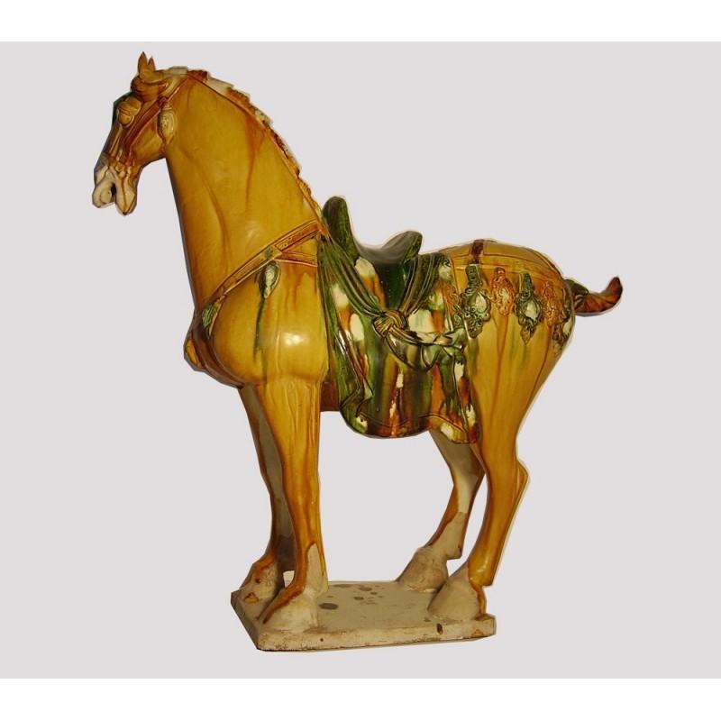 sculpture chinoise de cheval en c ramique meubles. Black Bedroom Furniture Sets. Home Design Ideas