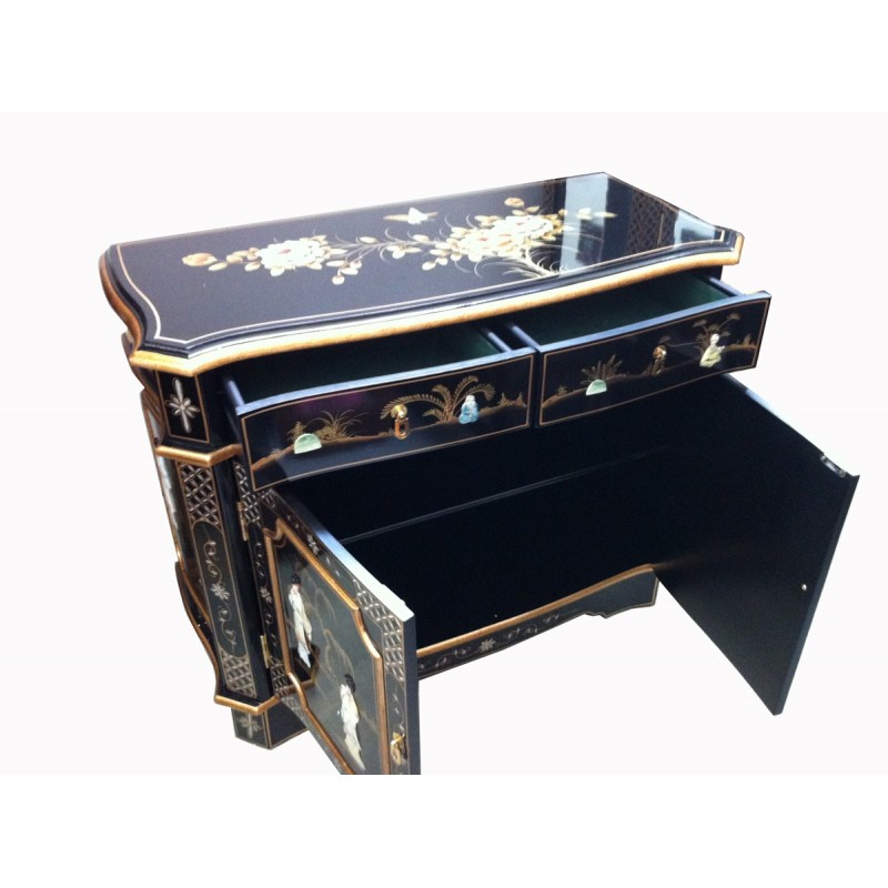 buffet chinese lacquered inlaid meubles. Black Bedroom Furniture Sets. Home Design Ideas