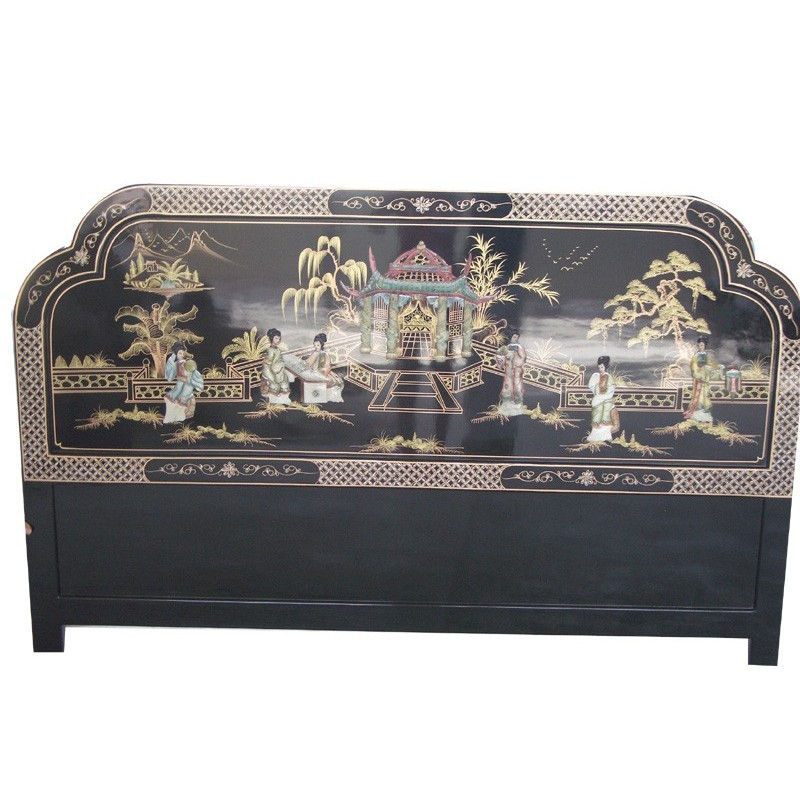 t te de lit chinoise laqu e meubles. Black Bedroom Furniture Sets. Home Design Ideas