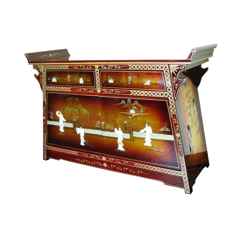 Buffet chinois laqu meubles for Buffet meuble chinois