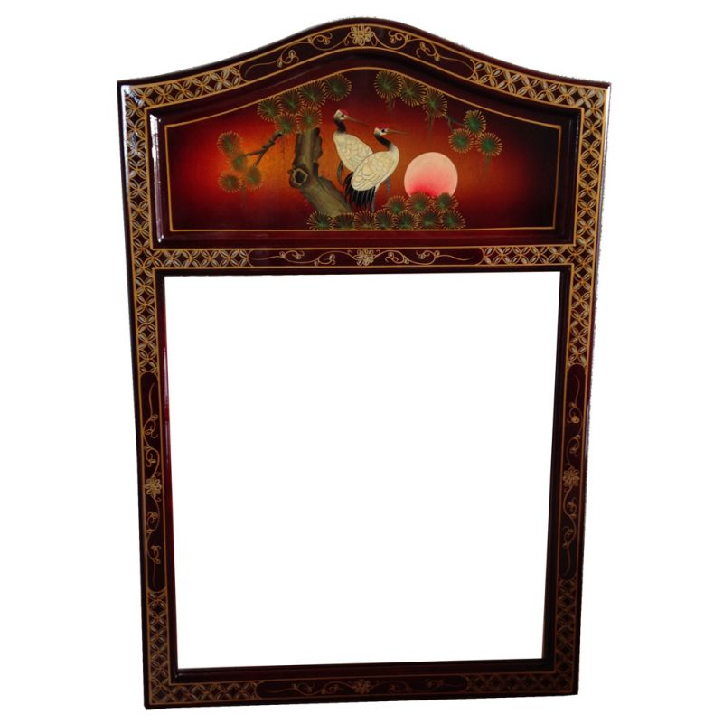 laquered chinese miror meubles. Black Bedroom Furniture Sets. Home Design Ideas