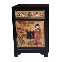 Furniture chinese black golden