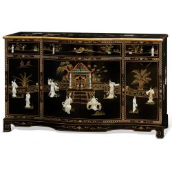 Chinese Buffet high gloss with 2 doors and 6 drawers