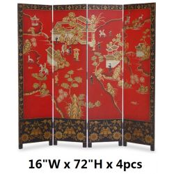 Folding screen of chinese flowers and birds