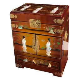 Jewelry box lacquered chinese