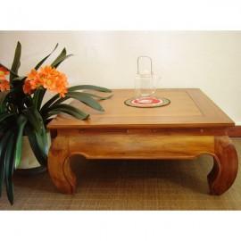 Table opium indonésienne carrée