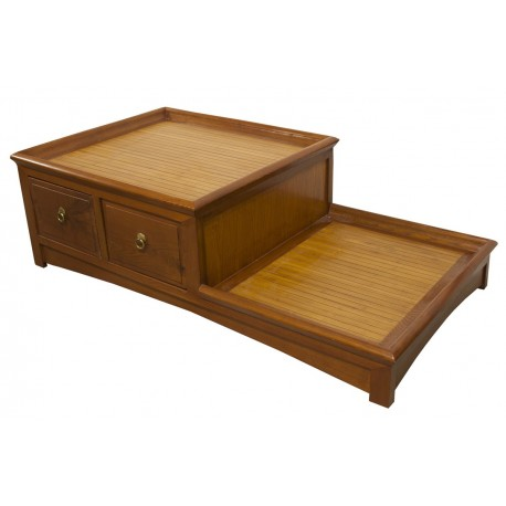 Table chinoise de salon 2 niveaux meubles for Table de nuit chinoise