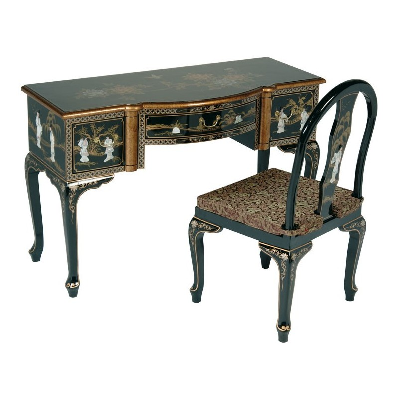 bureau chinois laqu meubles. Black Bedroom Furniture Sets. Home Design Ideas