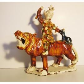 Sculpture en céramique émaillée