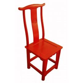 Chaise chinoise en bonnet de lettré