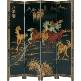 Screen chinese decor horses