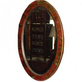 Miroir chinois oval