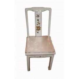 Chaise chinoise avec coussin au choix