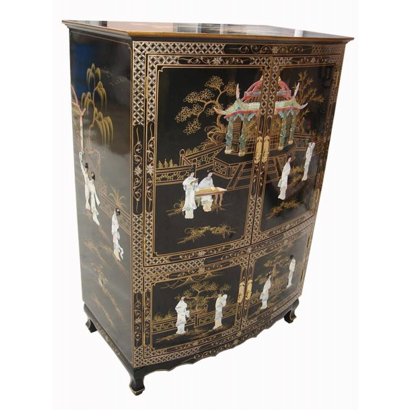 meuble chinois t l vision laqu meubles. Black Bedroom Furniture Sets. Home Design Ideas