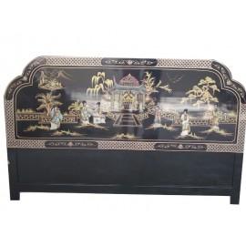 Tête de lit chinoise laquée