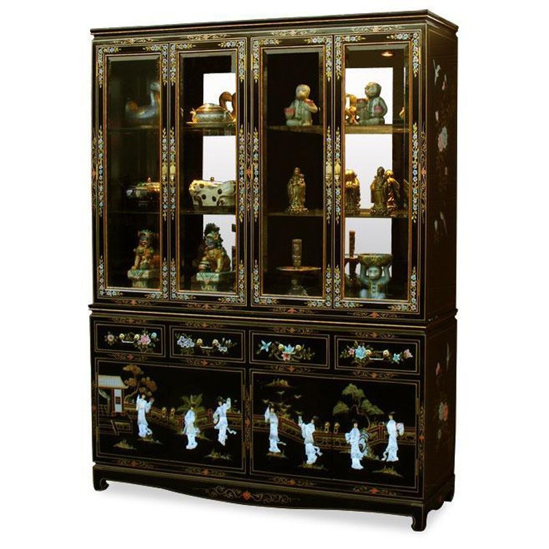 vitrine chinoise vaisselier meubles. Black Bedroom Furniture Sets. Home Design Ideas