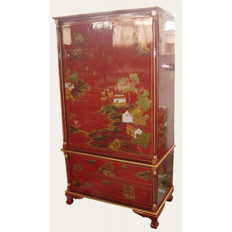 schrank rot lackiert meubles. Black Bedroom Furniture Sets. Home Design Ideas