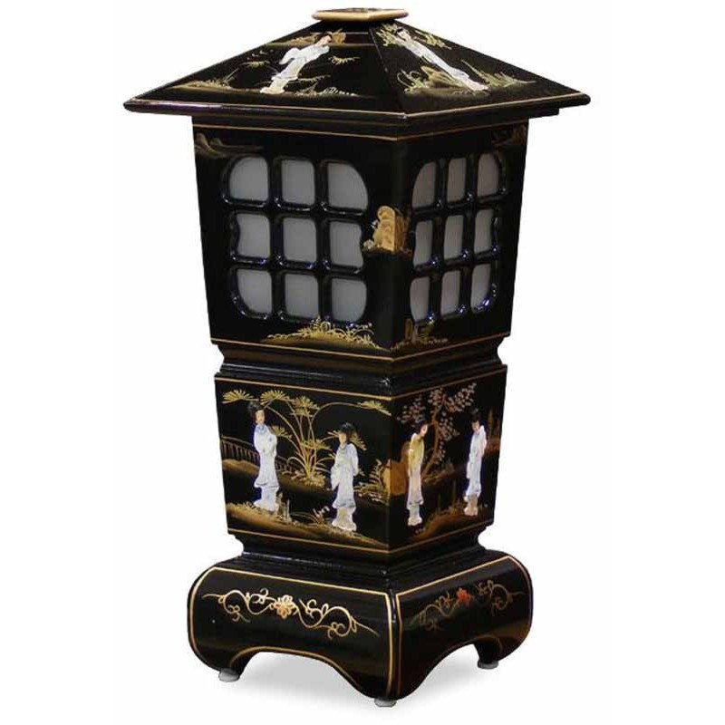 Lamp chinese pagoda lacquer meubles for Asiatische sofas