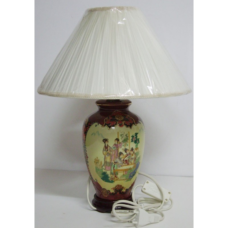 Lampe chinoise de chevet meubles for Table de chevet asiatique