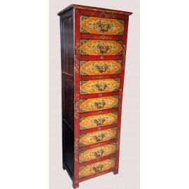 Commode tibétaine 9 tiroirs