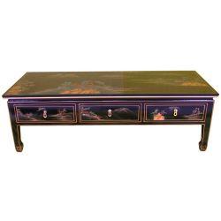Table de salon laquée
