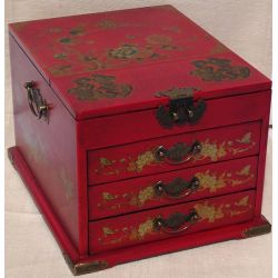Jewelry box leather