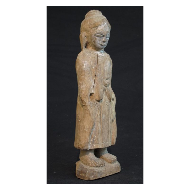 statue bouddha antique debout meubles. Black Bedroom Furniture Sets. Home Design Ideas