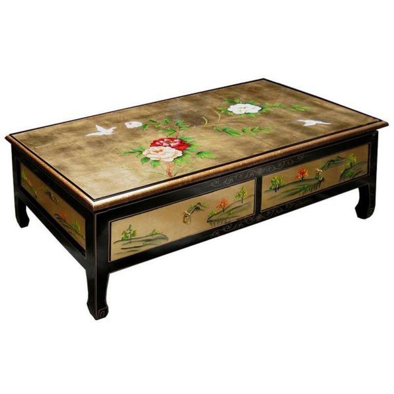 Table basse asiatique laqu e meubles for Meuble table basse