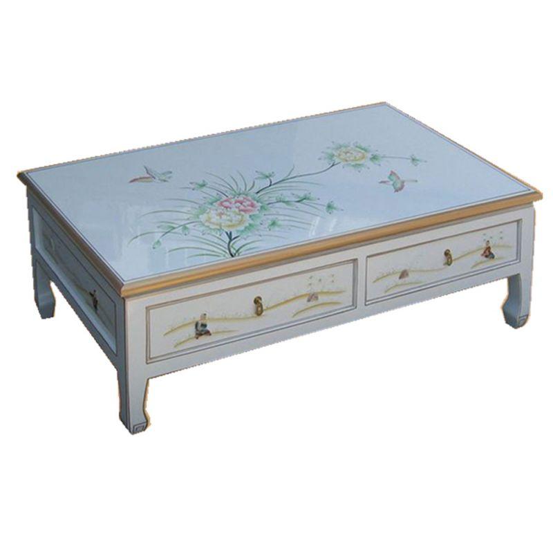 Table de salon chinoise rectangulaire meubles - Table de salon rectangulaire ...