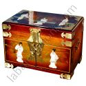 Jewelry box chinese lacquered bronze