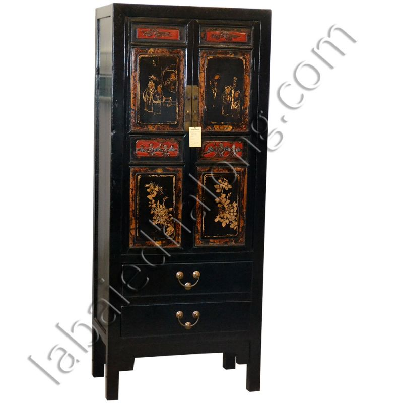 armoire noire peinte meubles. Black Bedroom Furniture Sets. Home Design Ideas