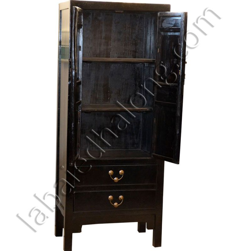 armoire chinoise noire peinte meubles. Black Bedroom Furniture Sets. Home Design Ideas