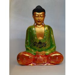 Buddha carved and painted