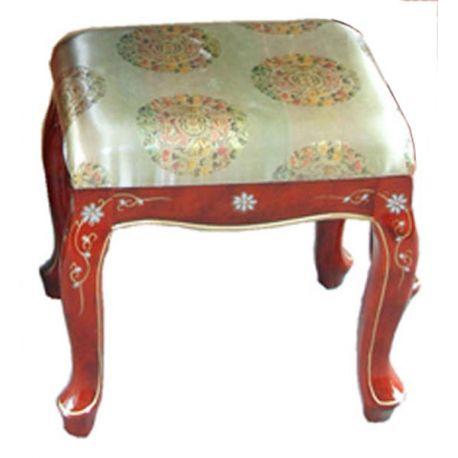 tabouret laqu avec coussin au choix meubles. Black Bedroom Furniture Sets. Home Design Ideas