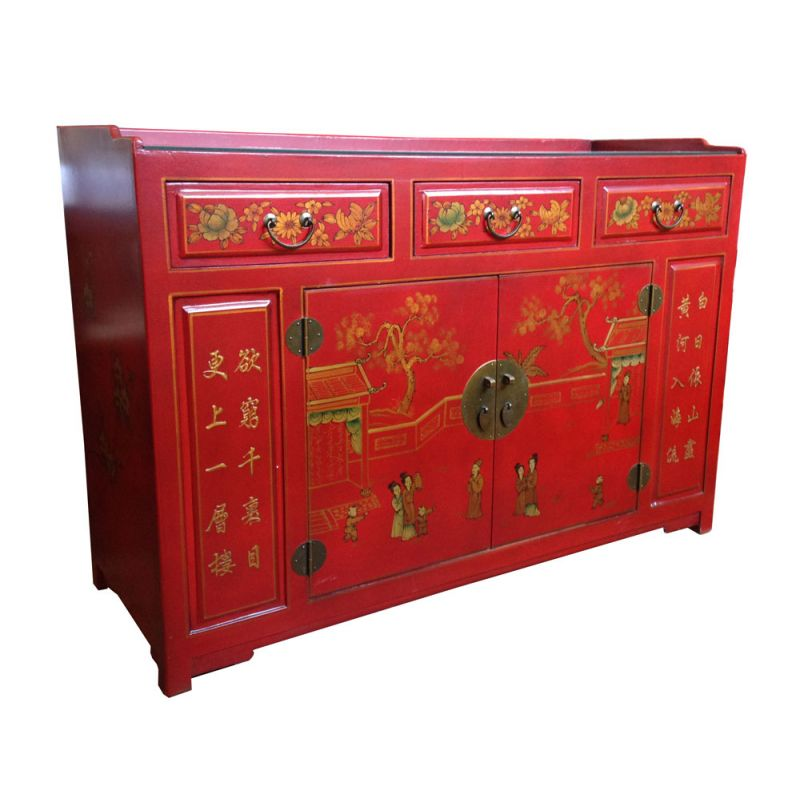 Buffet chinois plateau meubles for Meuble buffet chinois