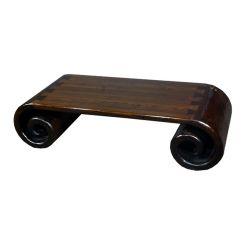 Table à rouleau teinte bois
