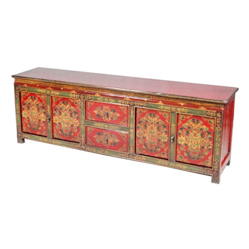 Meuble t l vision tib tain meubles for Meuble tibetain