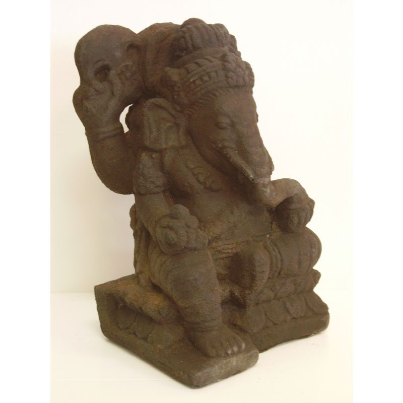 Buddha statue lord ganesh sculpture stone meubles