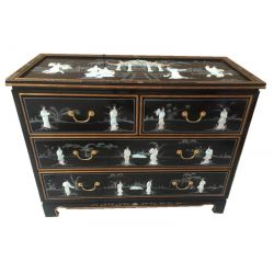 Commode chinoise laquée