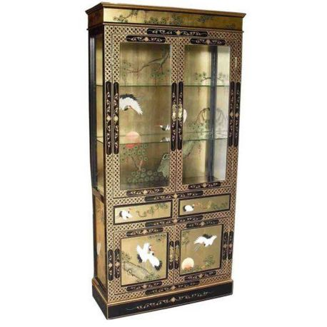 Showcase chinese lacquered
