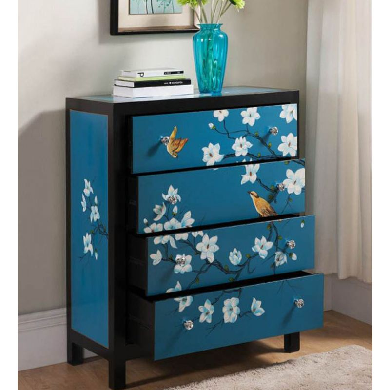 commode chinoise bleue meubles. Black Bedroom Furniture Sets. Home Design Ideas