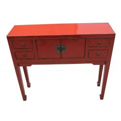 Console chinoise 4 tiroirs 2 portes