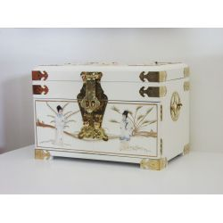 Jewellery box chinese white finish