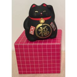 Chat Maneki Neko noir
