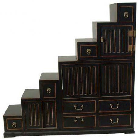 meuble escalier indon sien. Black Bedroom Furniture Sets. Home Design Ideas