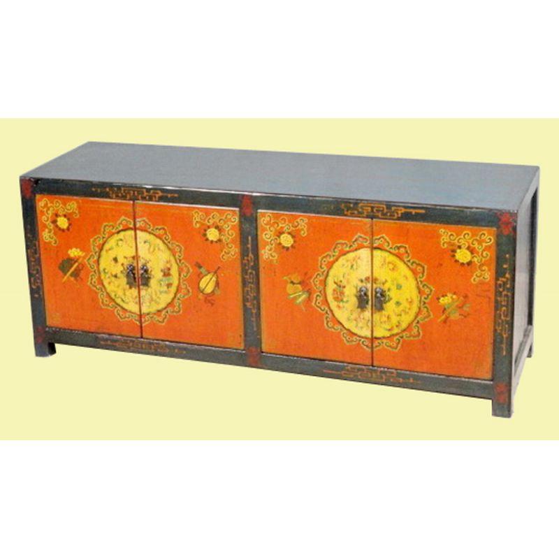 Meuble t l vision tib tain dromo meubles for Meuble tibetain