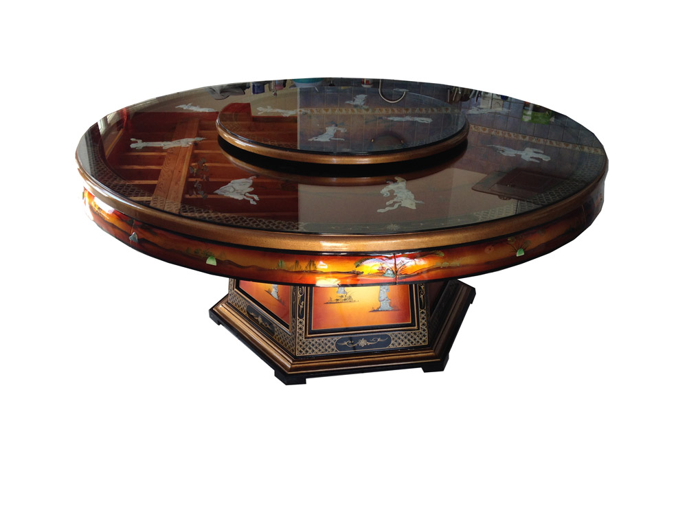 Dining Room Table With Turntable Meubles Labaiedhalong Com