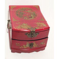 Boîte à bijoux chinoise rouge