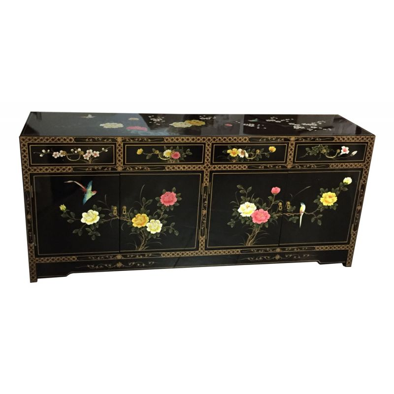 buffet chinois laqu noir meubles. Black Bedroom Furniture Sets. Home Design Ideas
