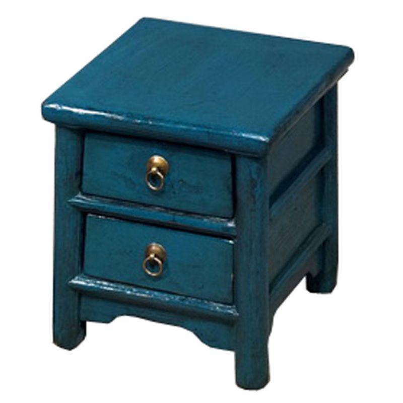 Chevet chinois bleu meubles for Meuble chinois bleu